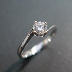 Classic Diamond Engagement Ring in 14K White Gold (0.25ct, F/VS)