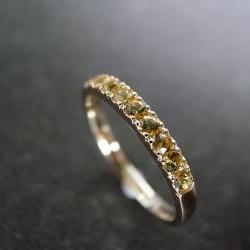 Yellow Sapphire Ring in 14K Yellow Gold