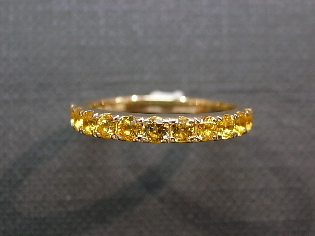 yellow sapphire wedding ring in 14k yellow gold sapphire wedding band Yellow Sapphire Wedding Ring in 14K Yellow Gold